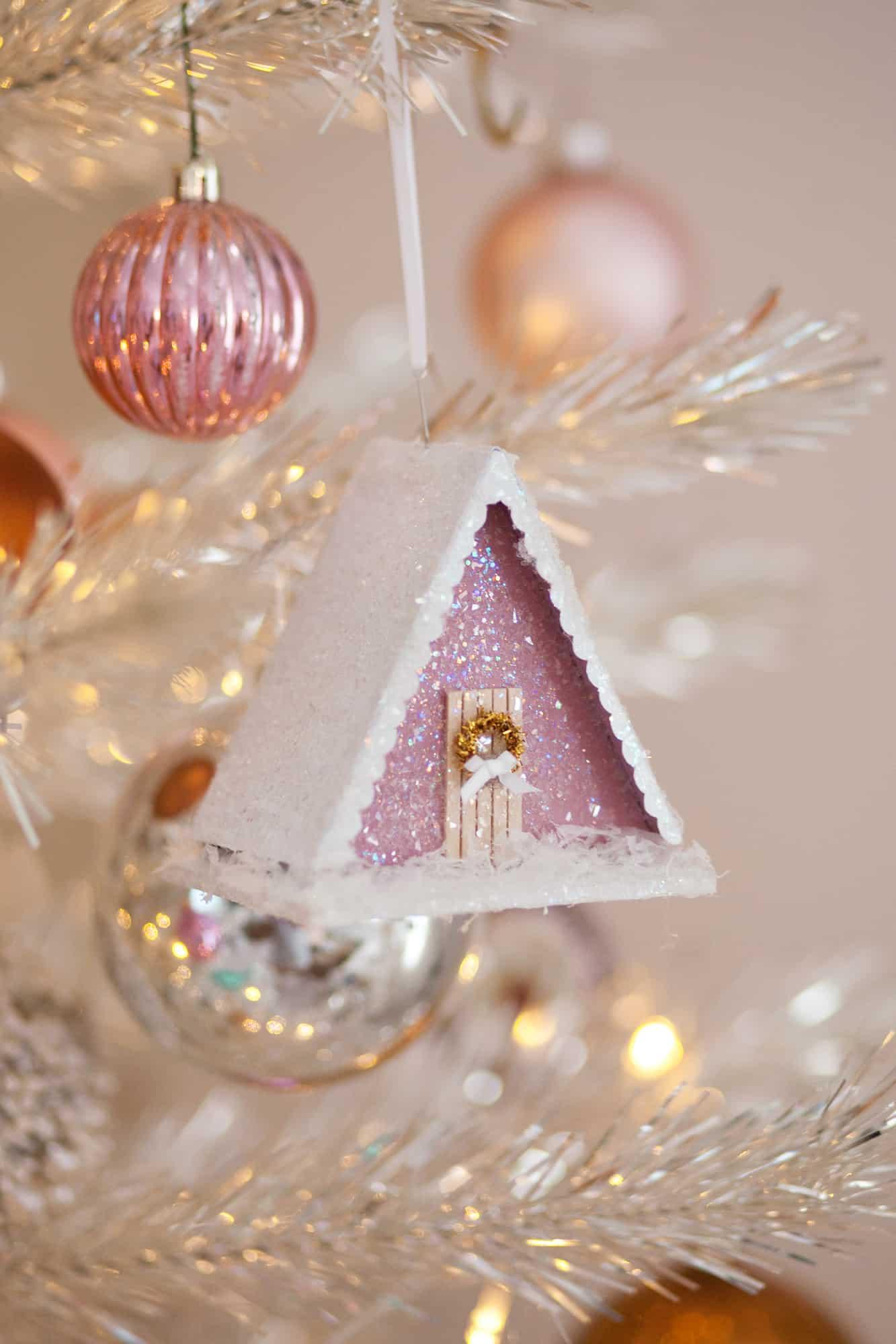 make a vintage-style putz house ornament