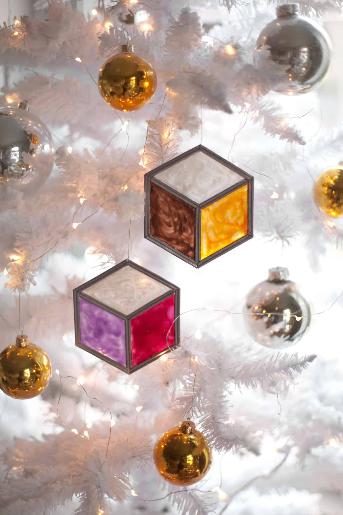 Stained Glass Tumbling Block Ornaments A Beautiful Mess