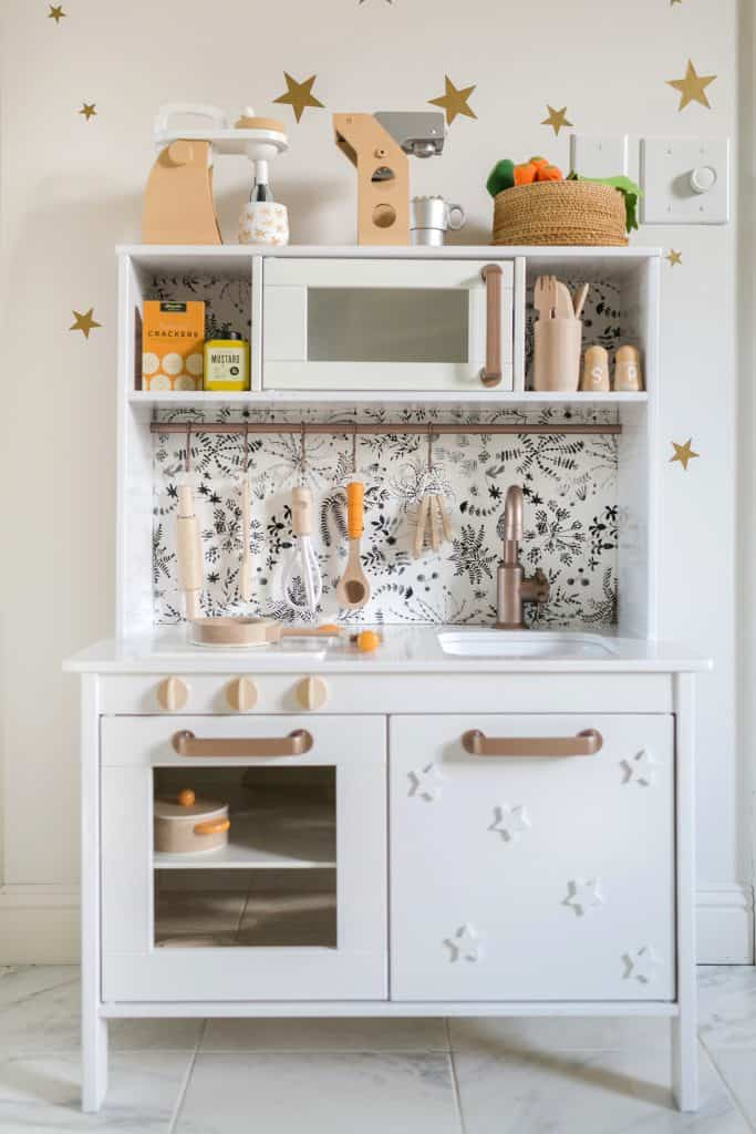 Nova's Play Kitchen (IKEA Hack) - A Beautiful Mess