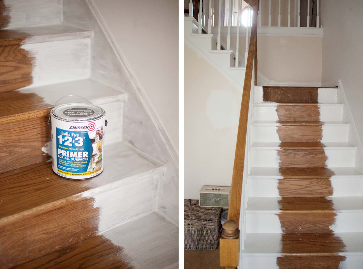 painting wood stairs