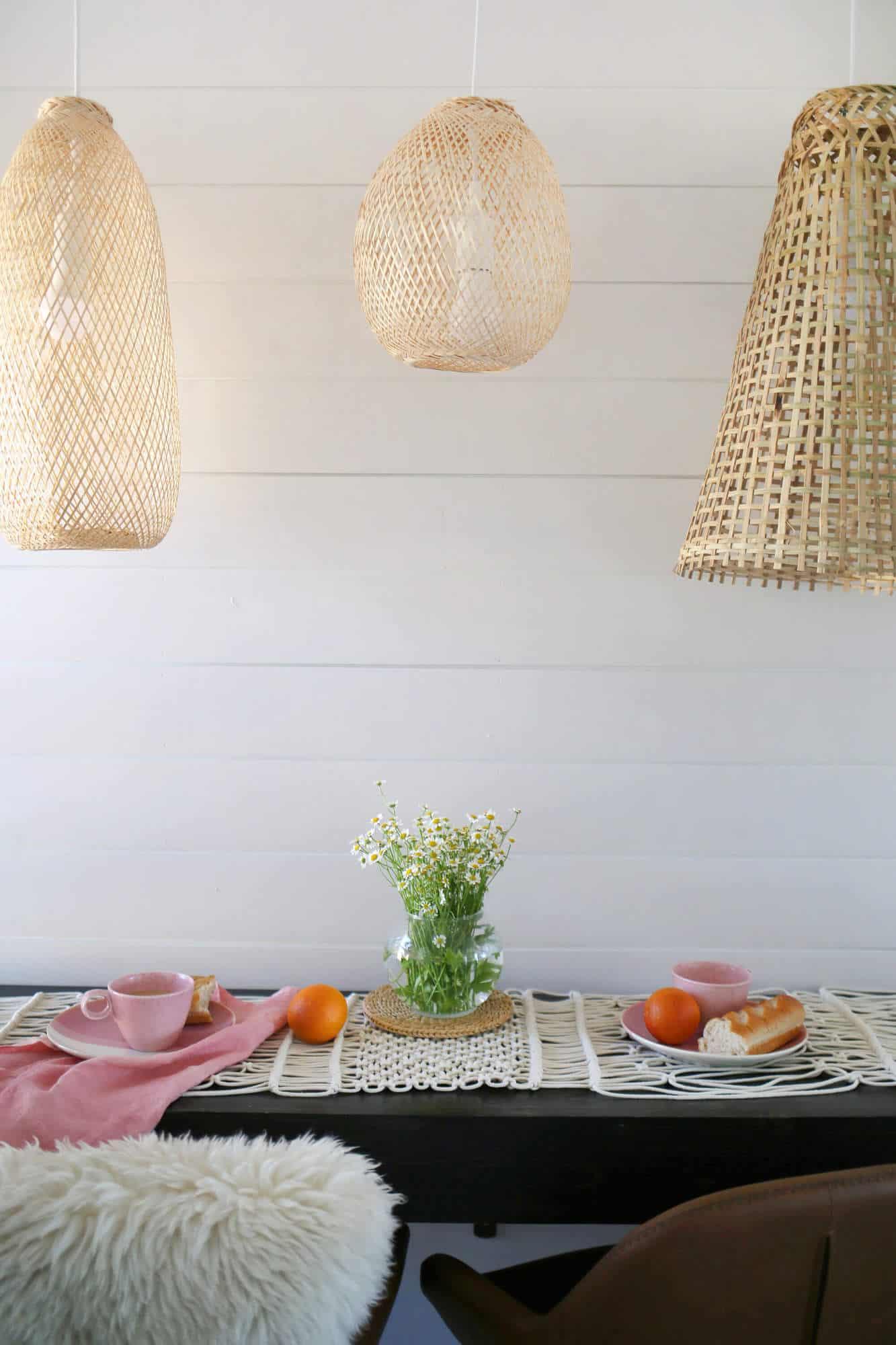 Simple Macrame Table Runner Diy A Beautiful Mess