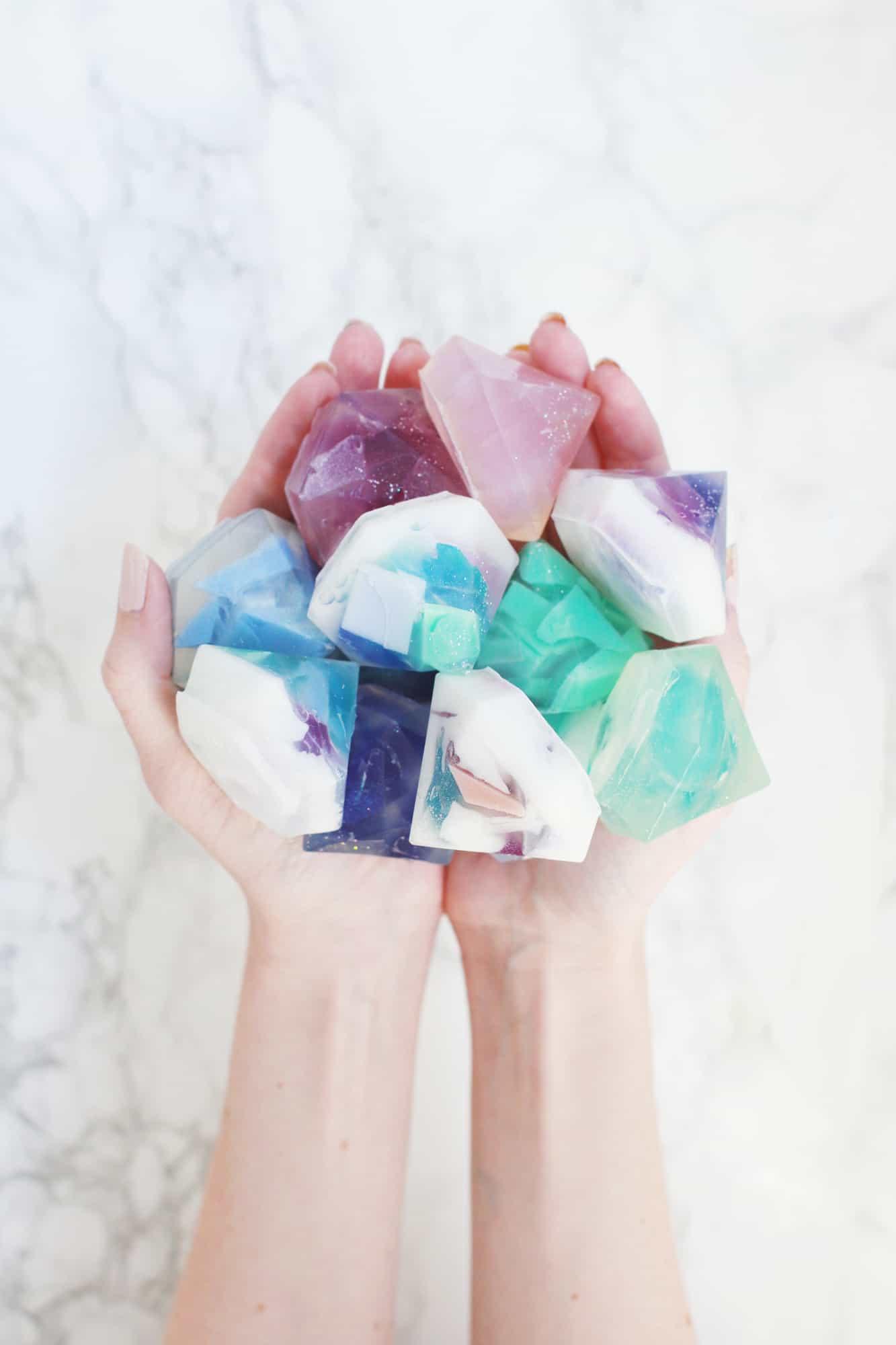 Gemstone soap DIYjpg