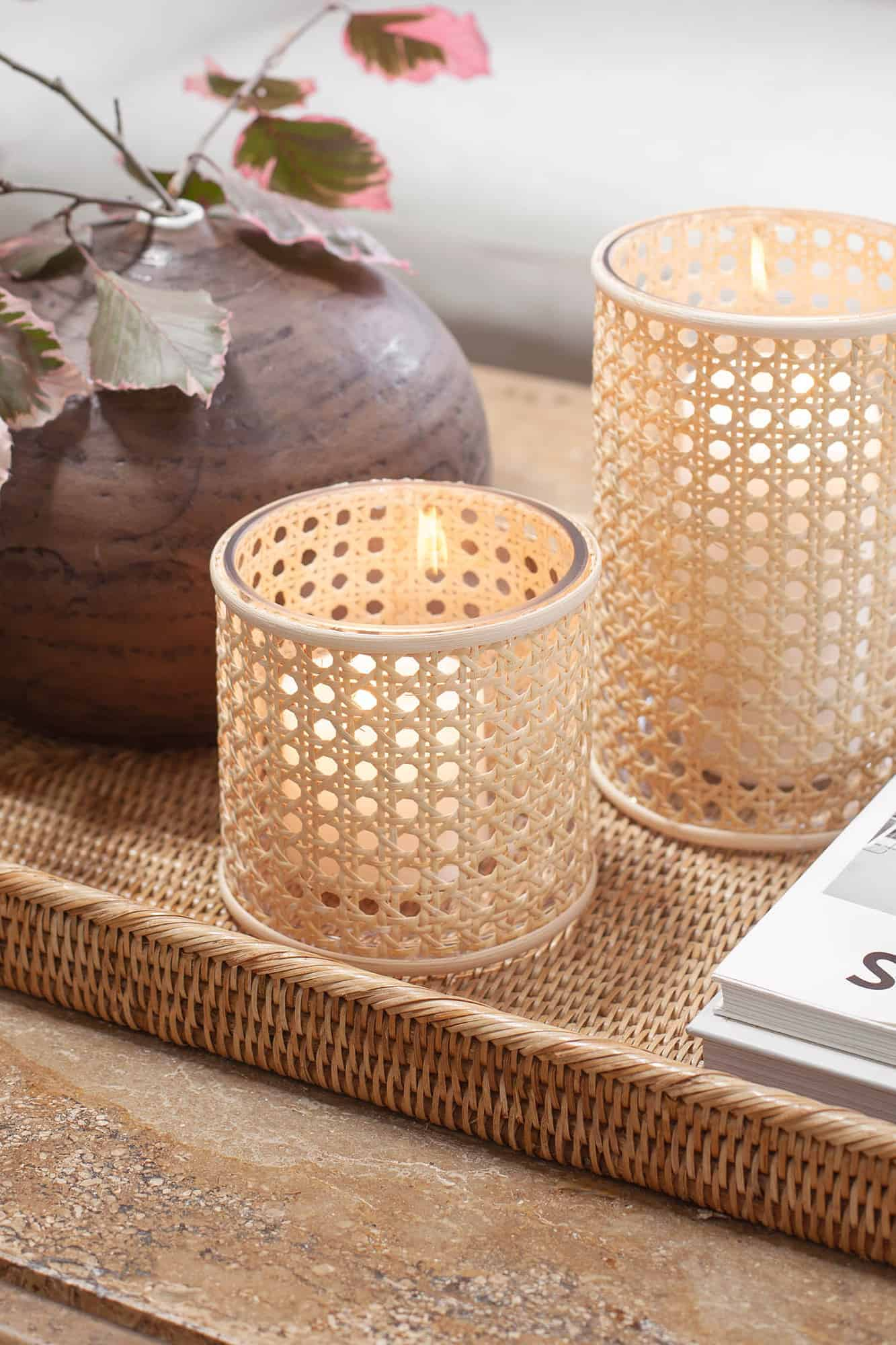 How to make a caned candle holder