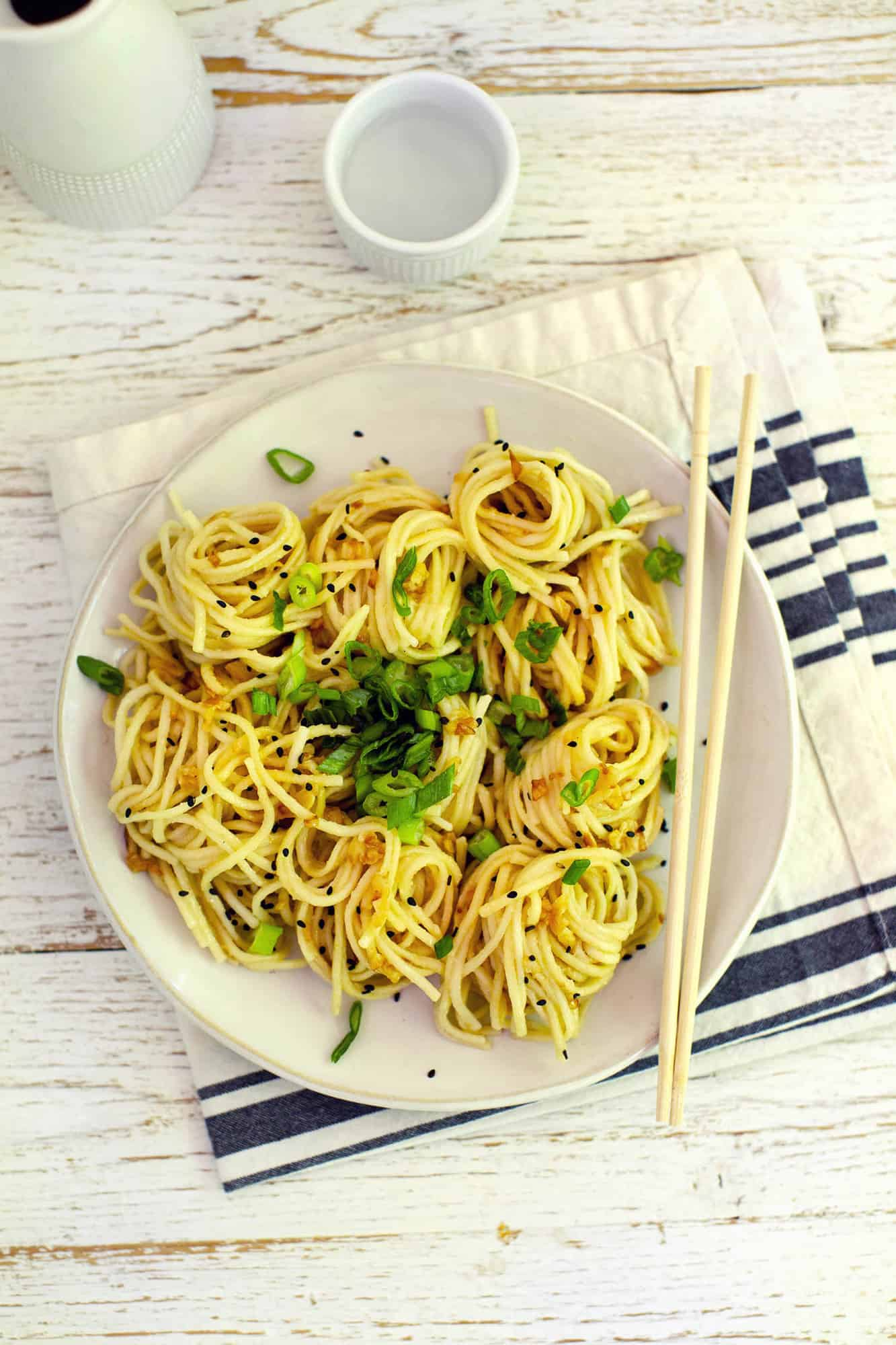 Miso And Garlic Butter Noodles A Beautiful Mess