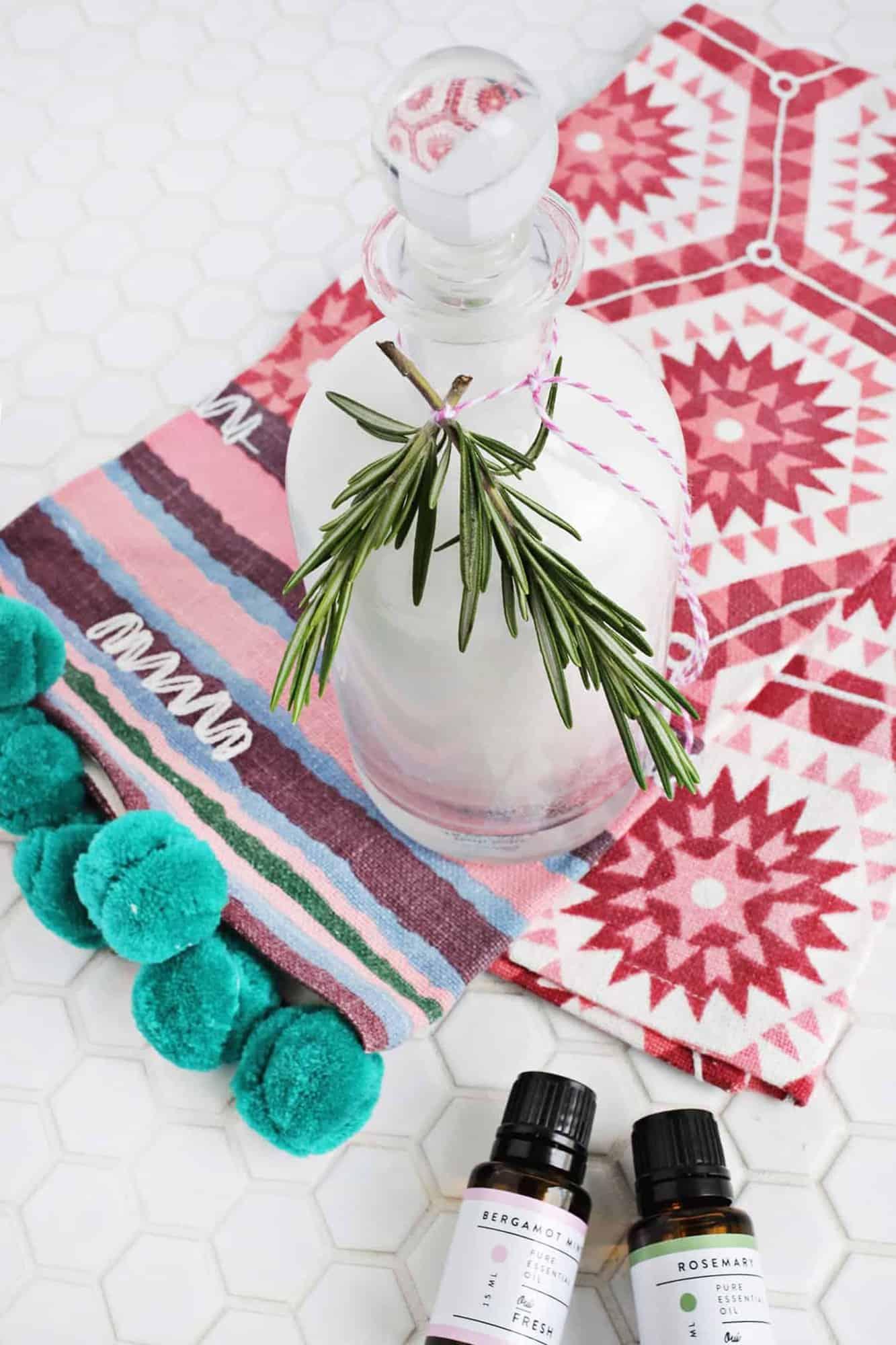 Rosemary mint bath salt DIY