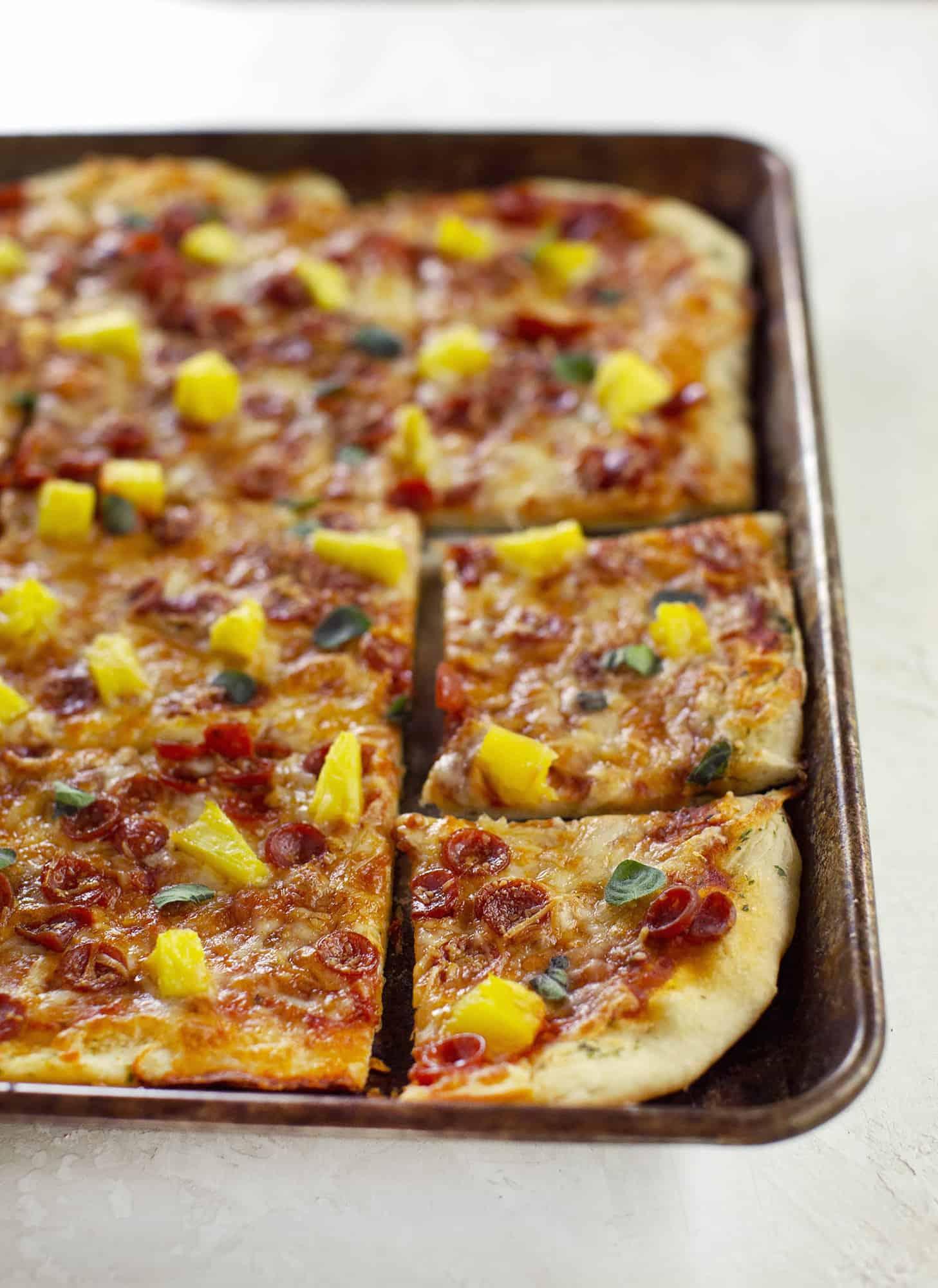 30 Minute Sheet Pan Pizza A Beautiful Mess