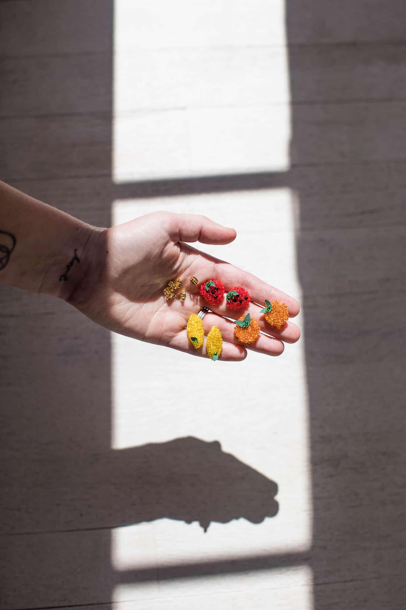 DIY seed bead earrings