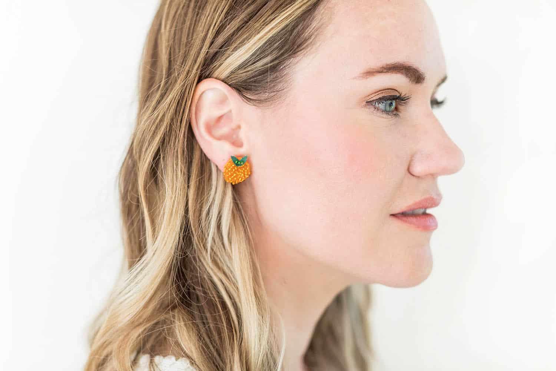 fruit shaped seed bead earring designs
