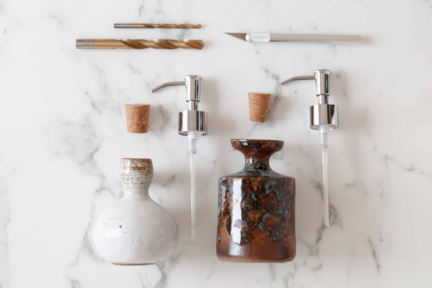 Turn a Vase into a Soap Dispenser