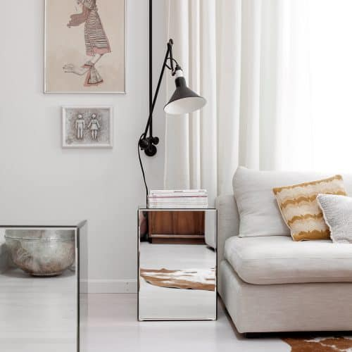 How to Make Mirrored Side Tables