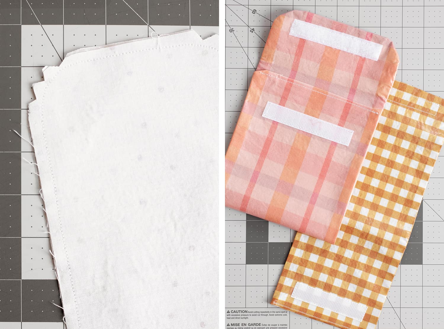 How to Make Fabric snack bags