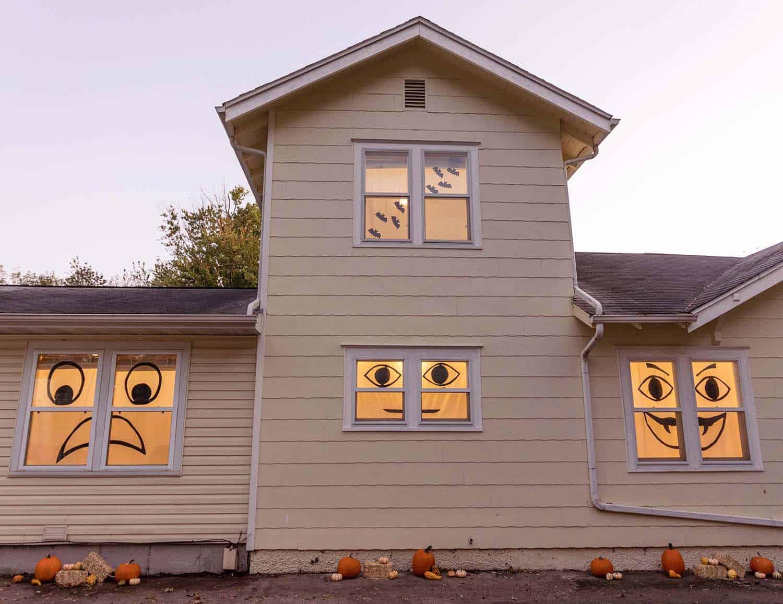 Easy Halloween Window Decor A Beautiful Mess