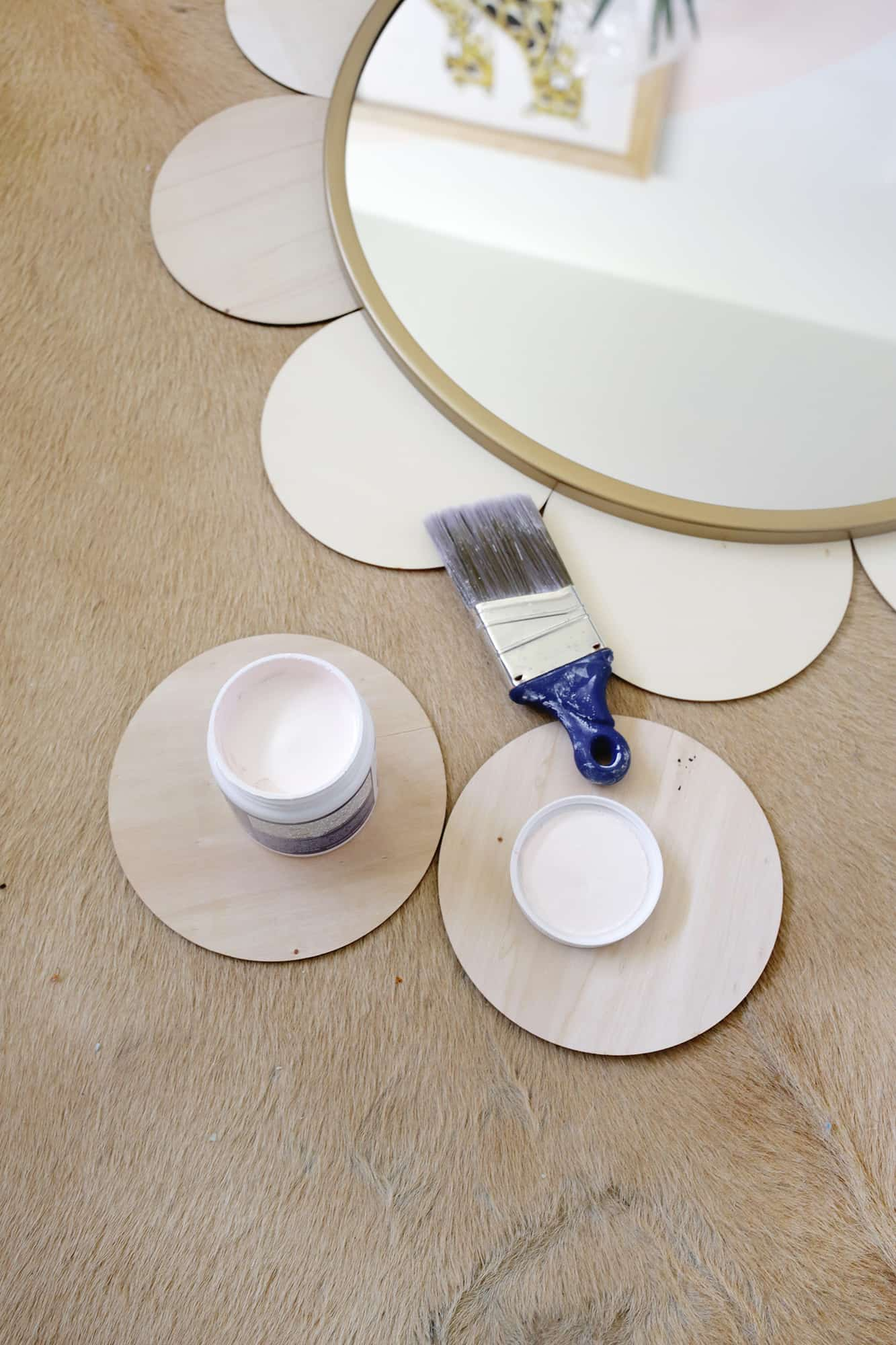 Flower Mirror Diy A Beautiful Mess