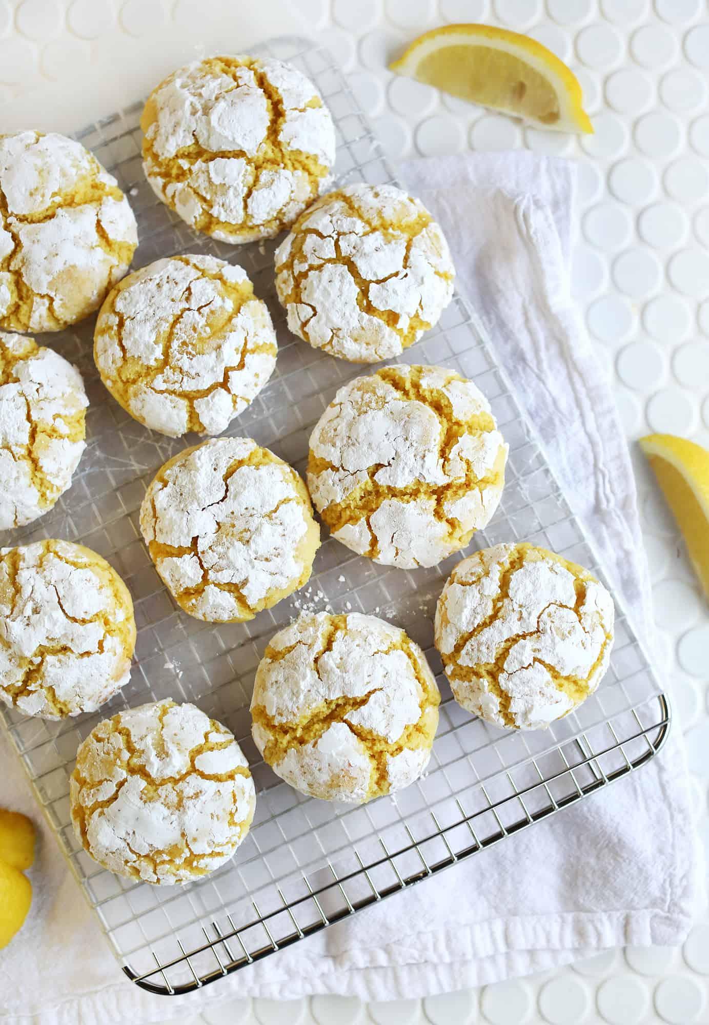 Lemon Burst Crinkle Cookies