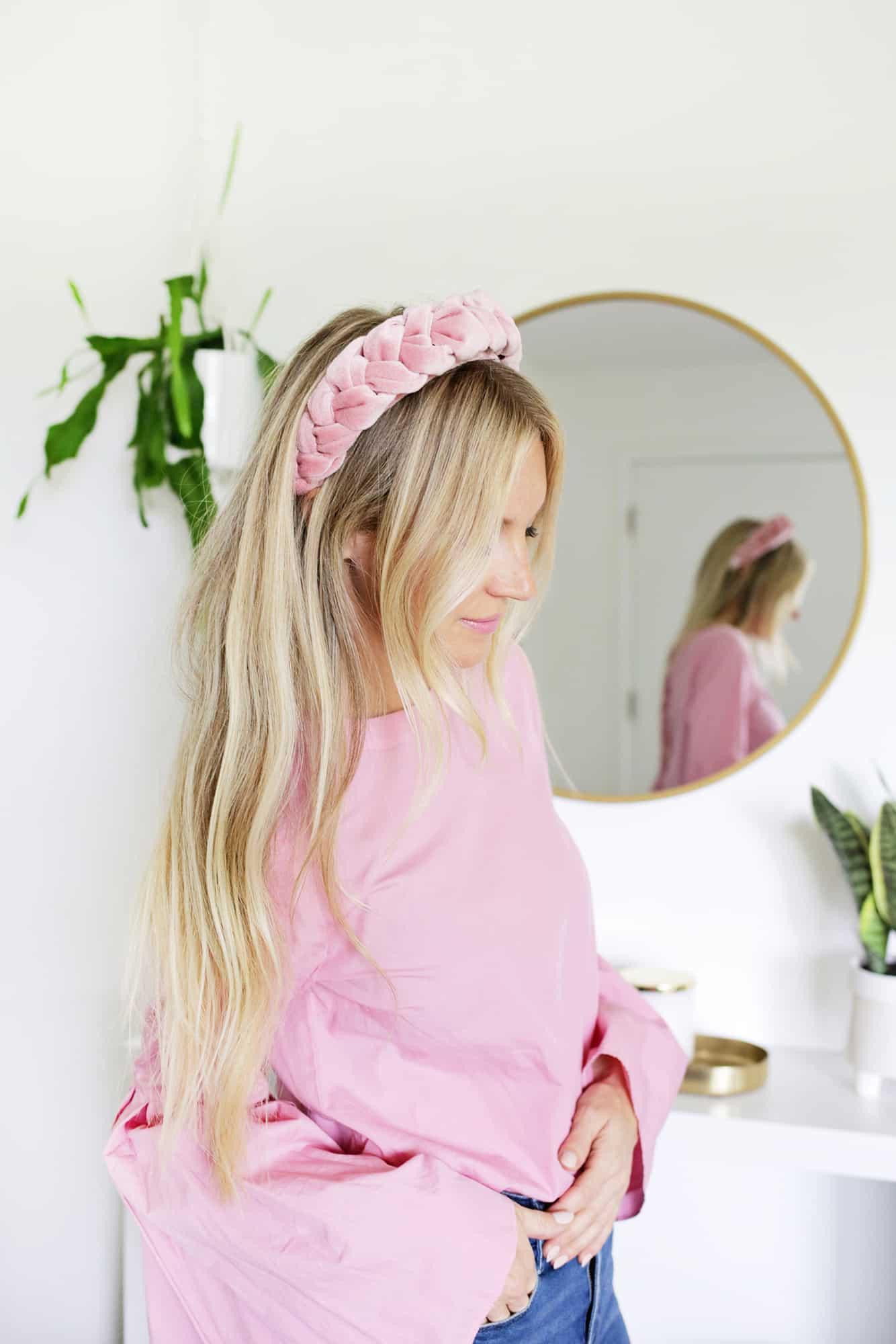 No-Sew Braided Velvet Headband – A Beautiful Mess