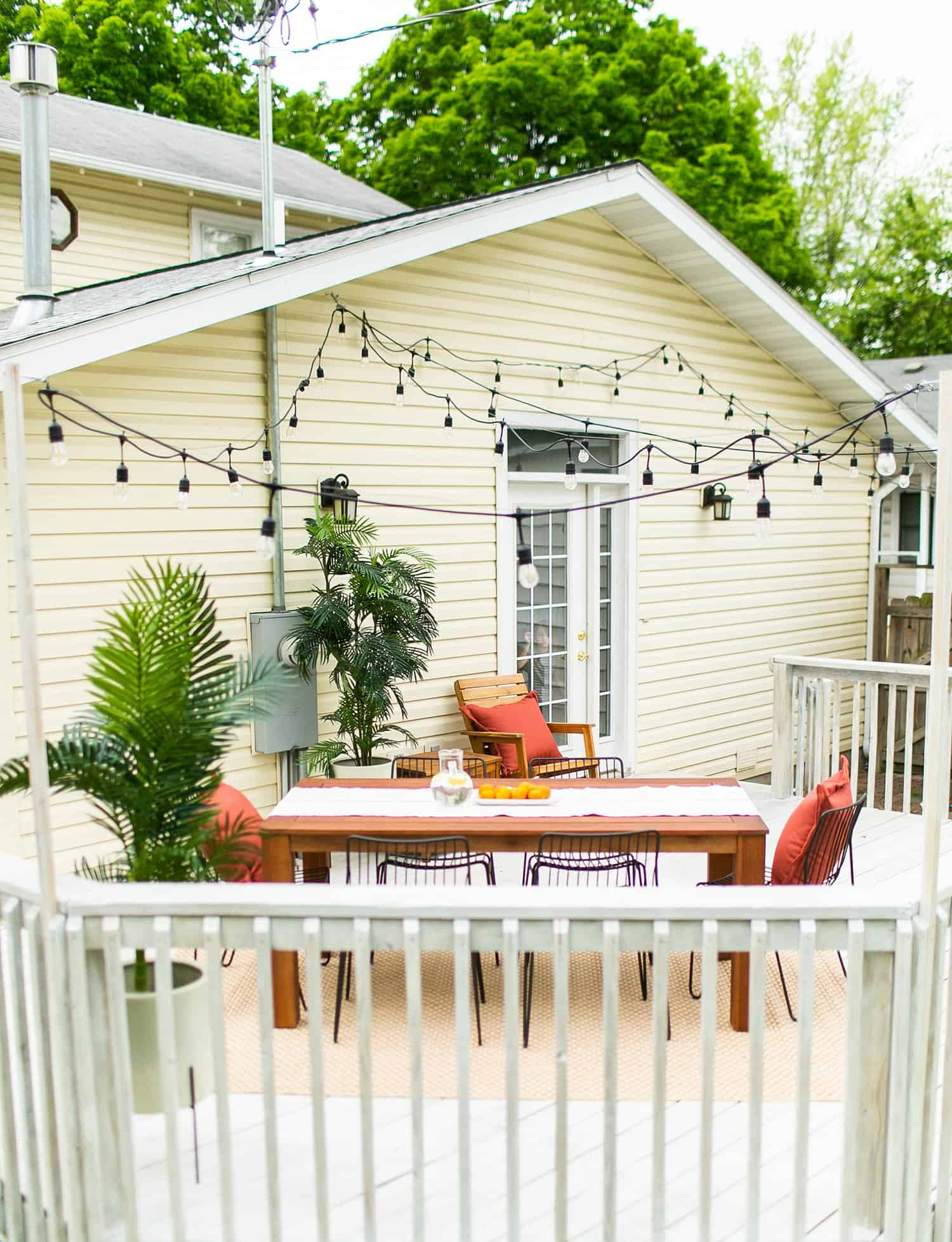 Holiday House Back Porch Refresh