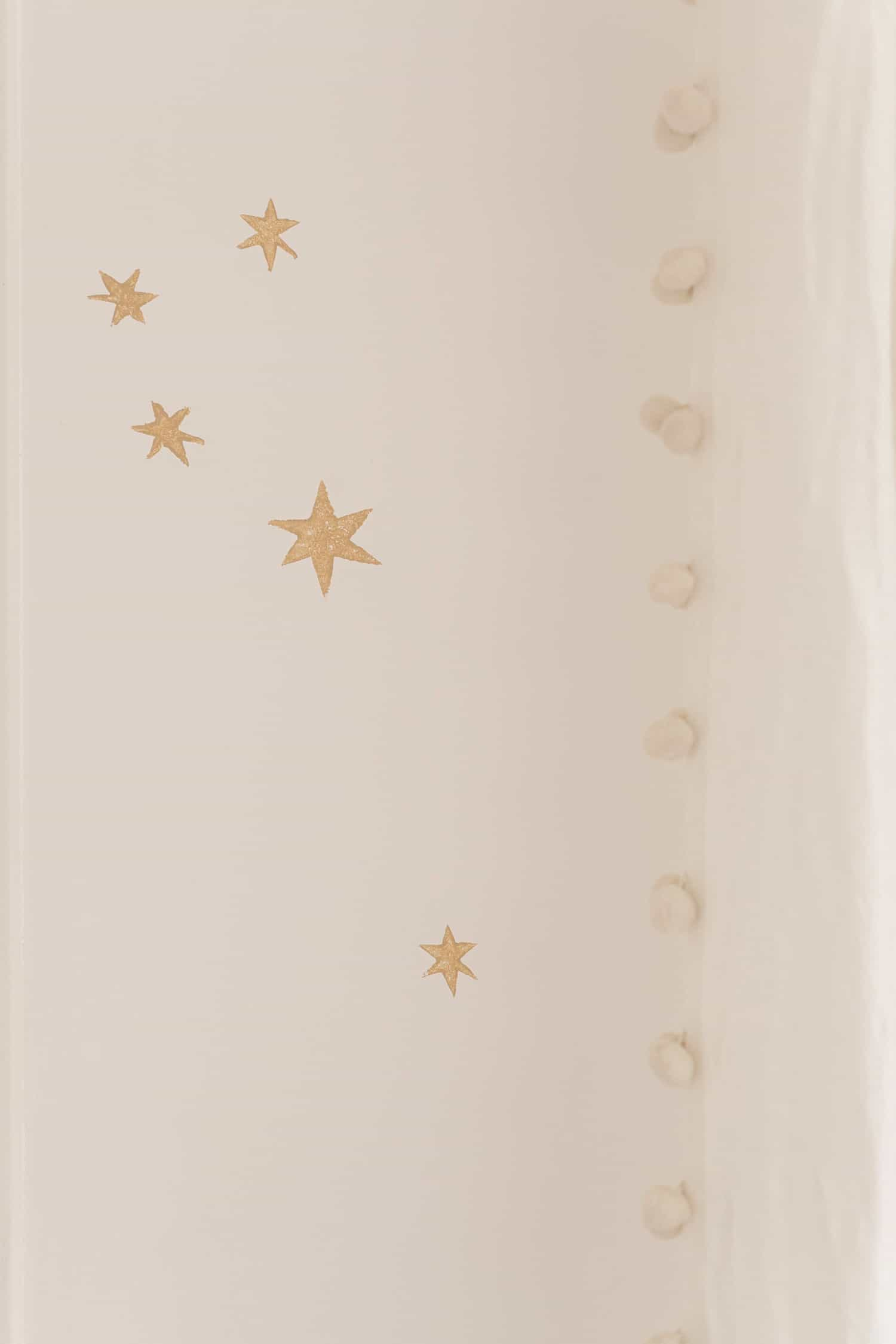 Stamped Star Wall DIY (Money Saving Wallpaper Alternative)