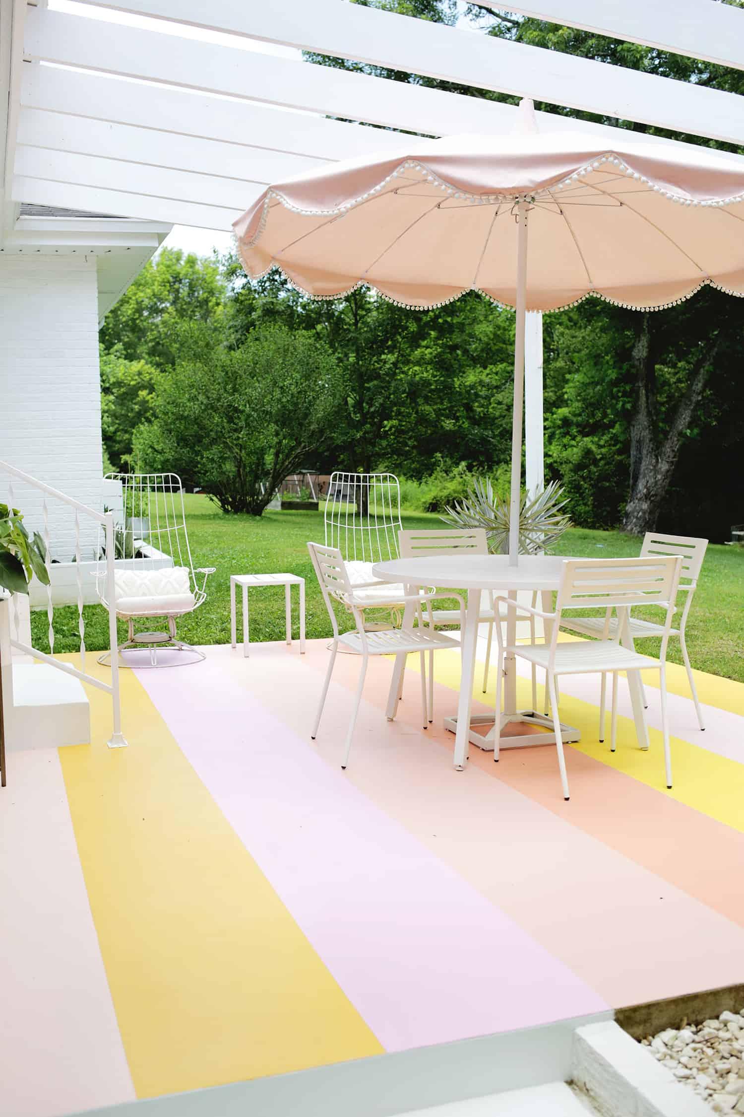 Striped Porch Floor DIY!