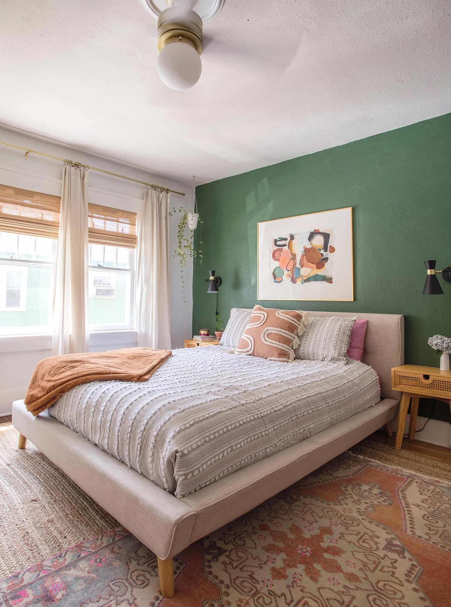 Green And White Main Bedroom Before After A Beautiful Mess
