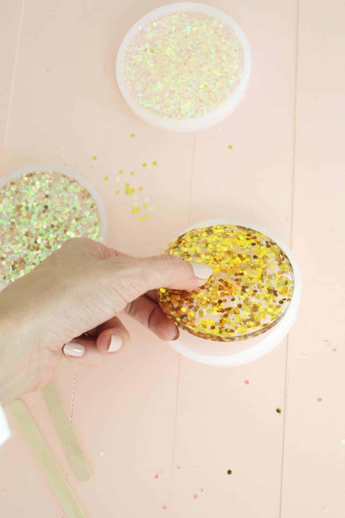 Acrylic Glitter Coaster DIY – A Beautiful Mess
