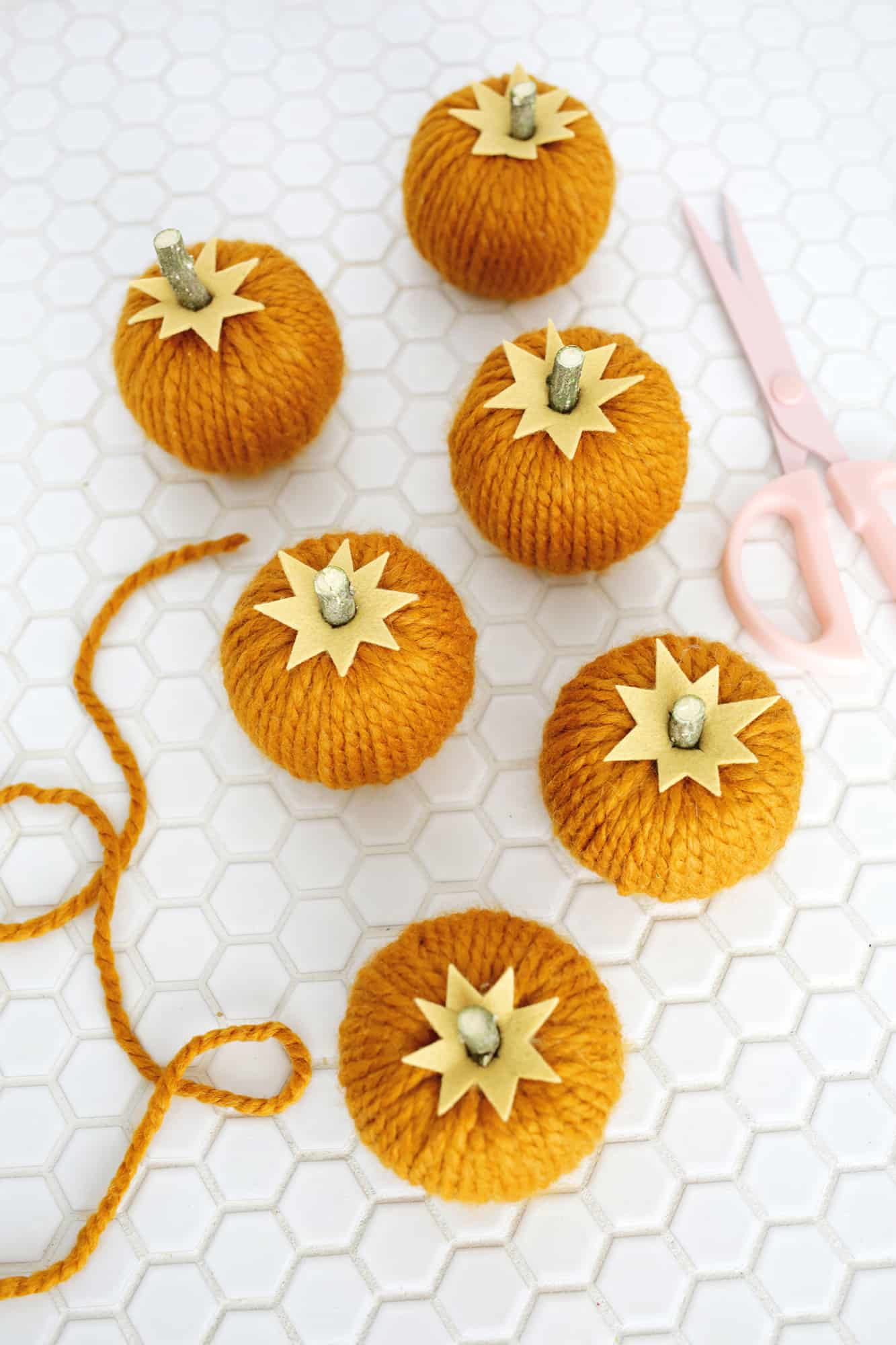 Yarn Pumpkin Garland Diy A Beautiful Mess