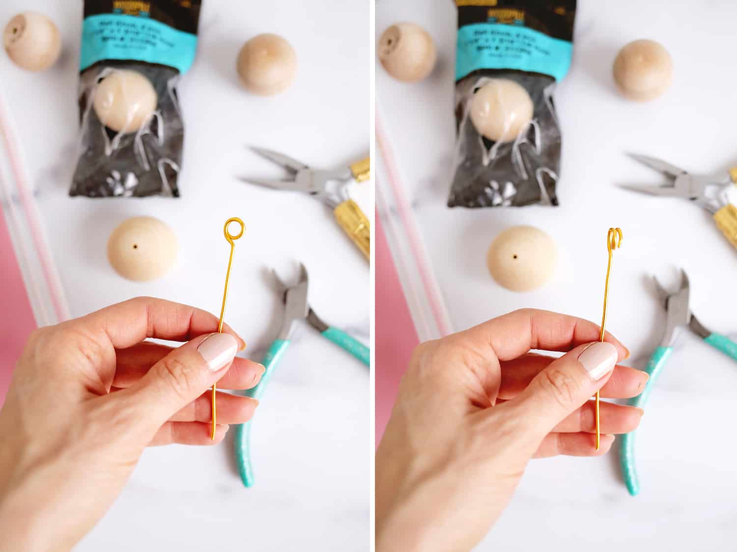 Wooden Ball Photo Holder DIY Only Takes 5 Minutes To Make Click through for tutorial