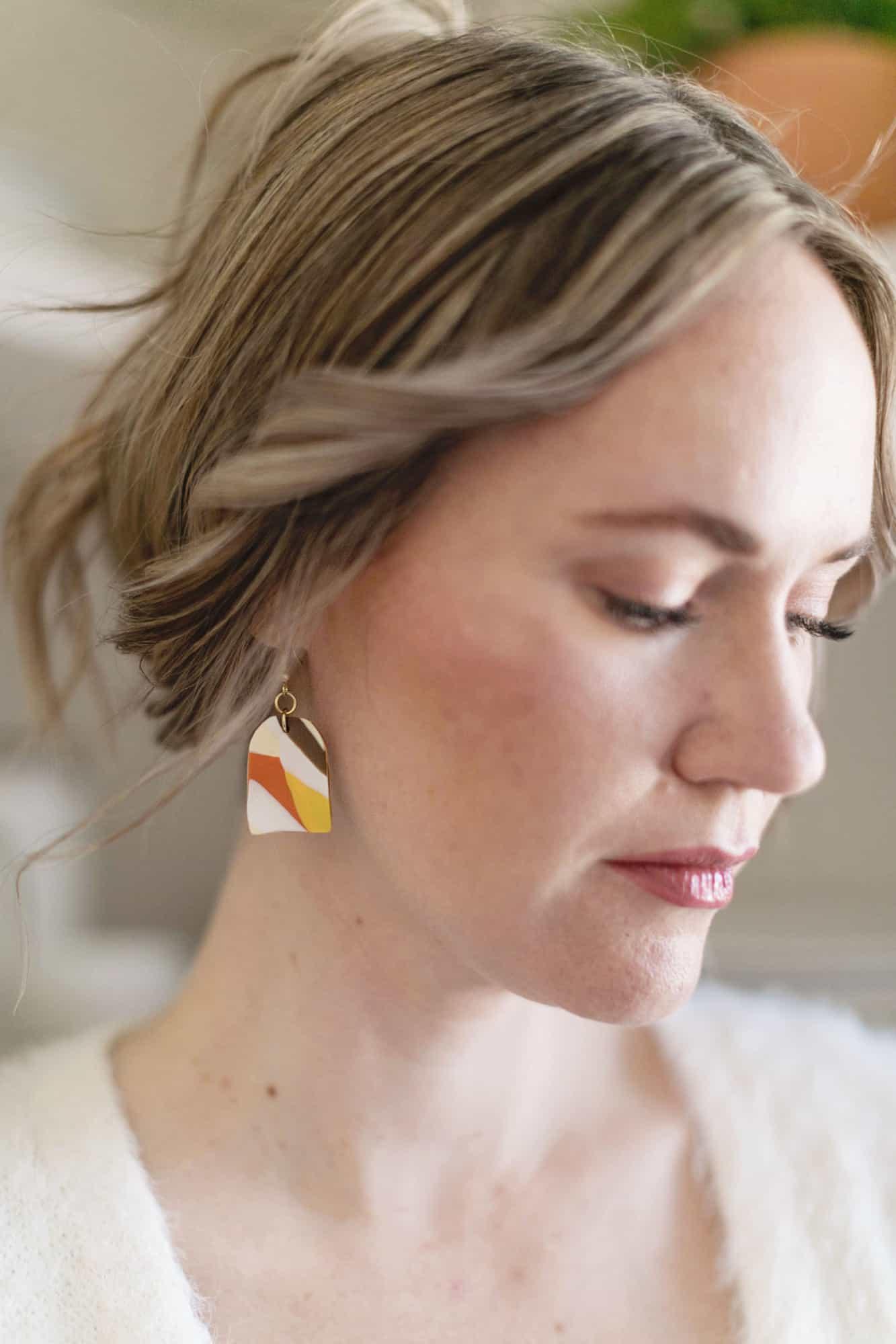 marbled clay earring DIY 1 1