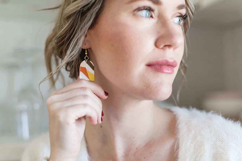 marbled earring DIY