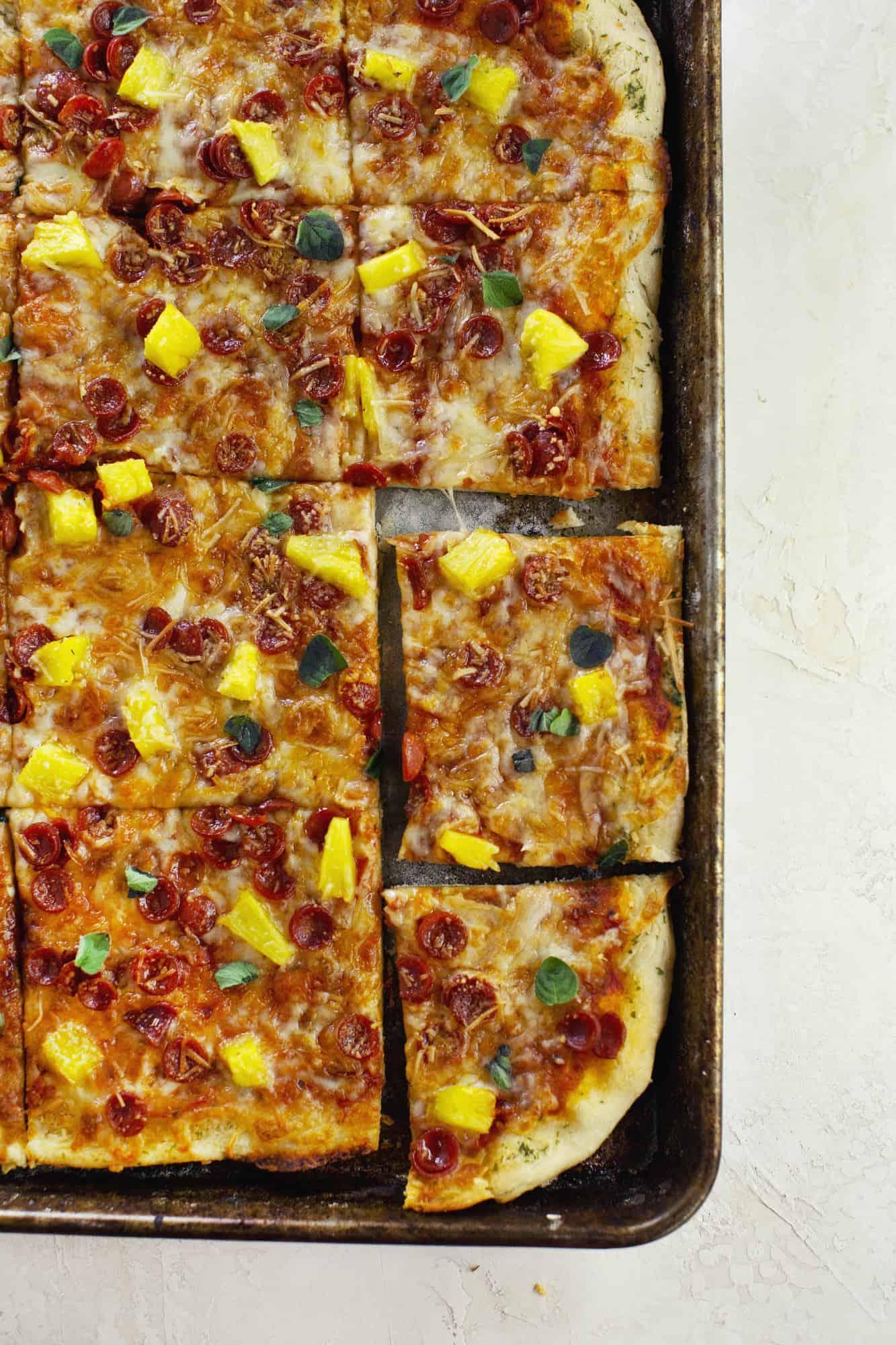 30 minute sheet pan pizza