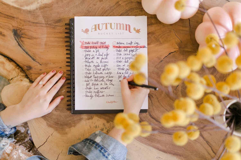 Elsie's Autumn Bucket List