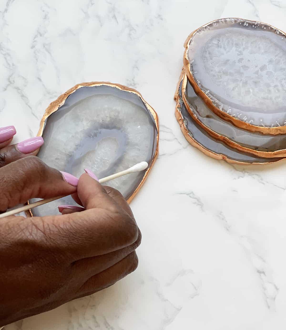 DIY crystal coasters