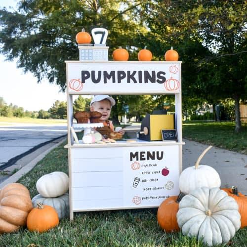 Pumpkin Stand and pumpkins