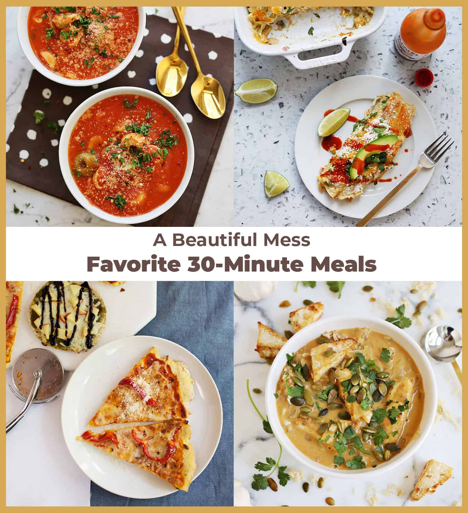 Roundup of 30 minute meals