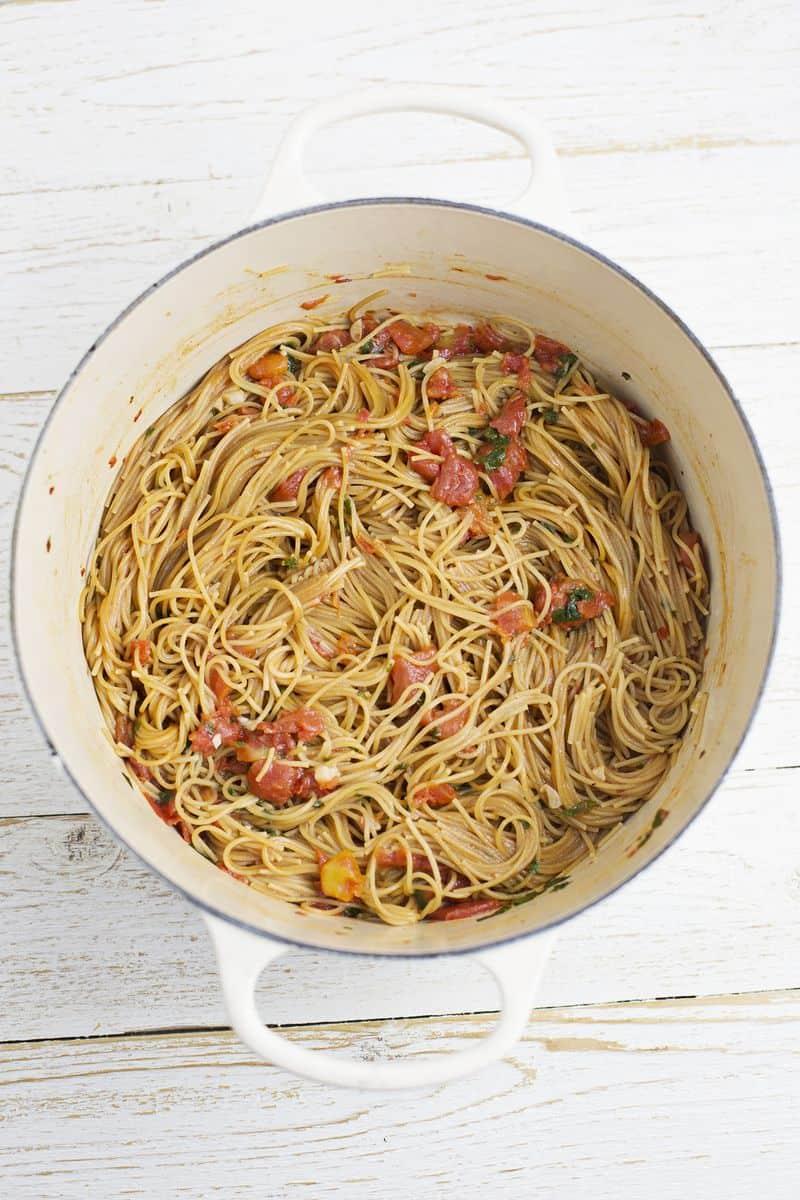 Whole wheat one pot pasta