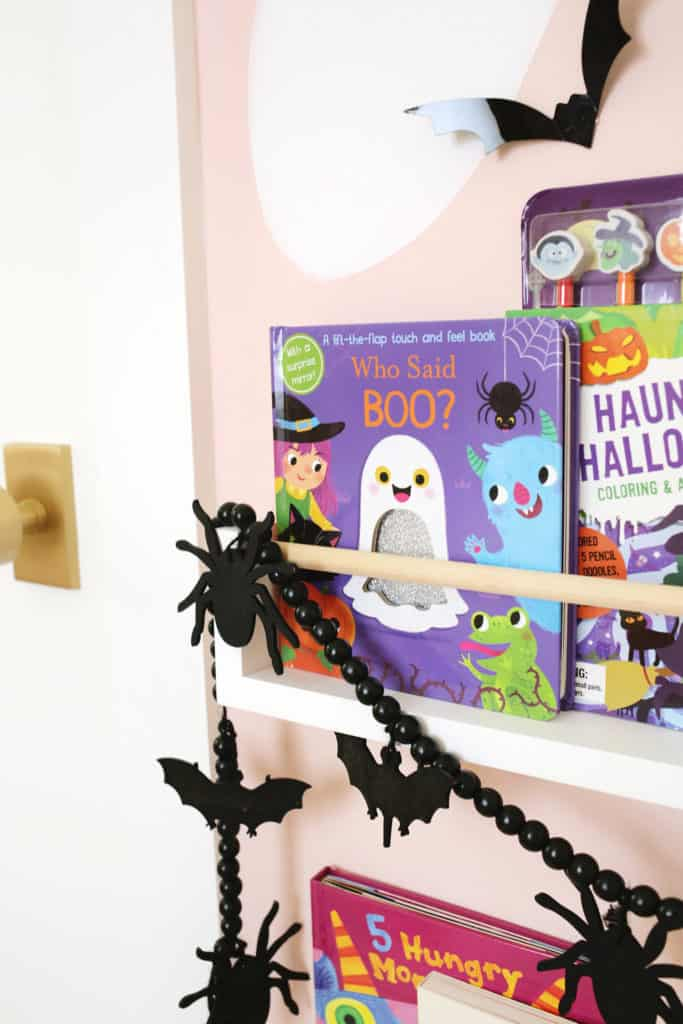 close up of a book with a ghost on the front