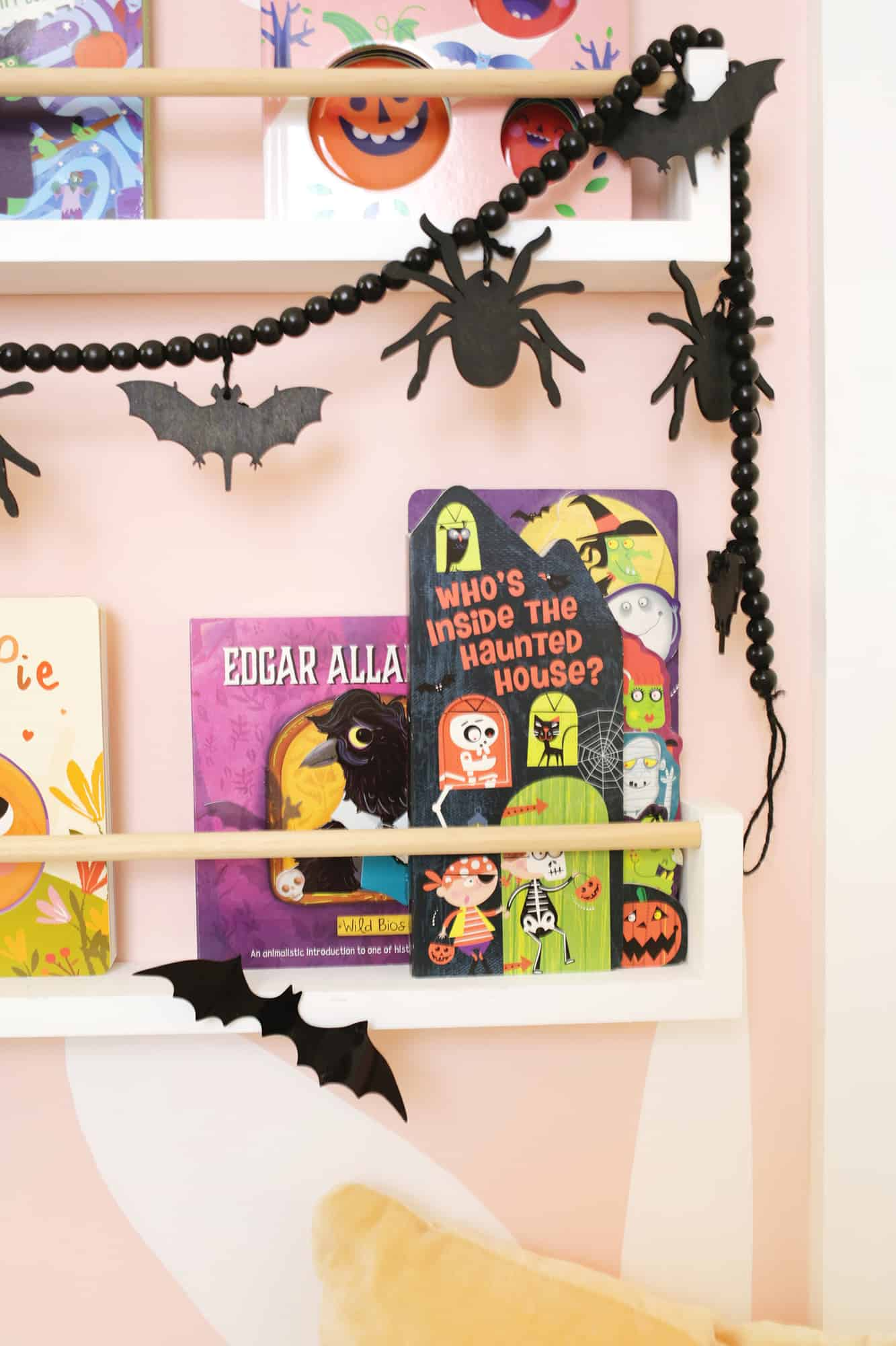 close up of haunted house halloween book