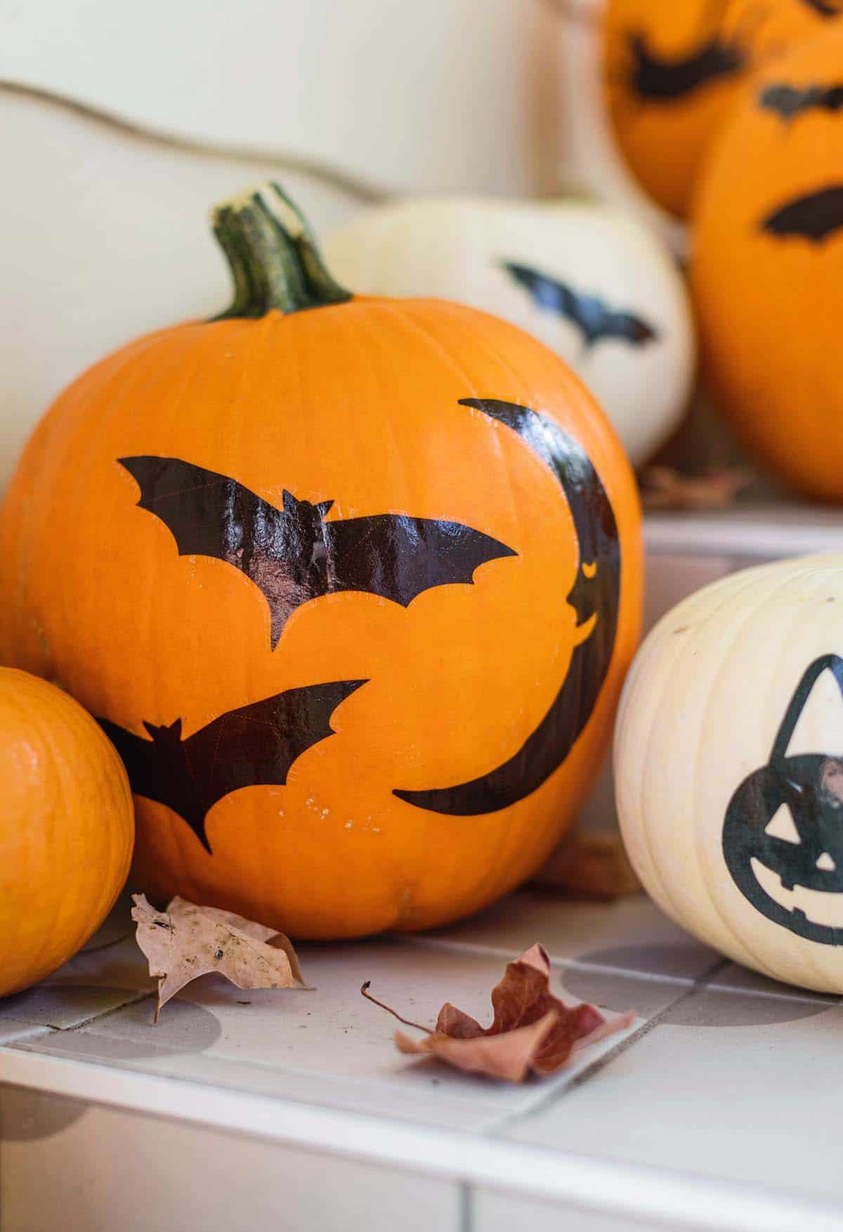 Closeup of pumpkins