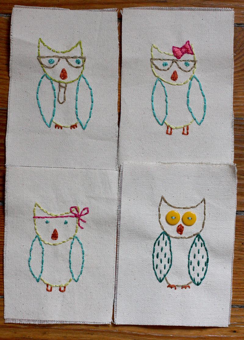 Owls-stitched