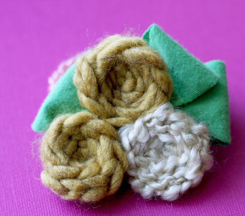 Crocheted-corsage