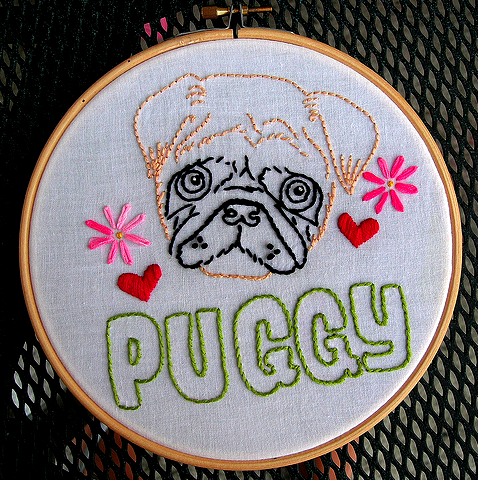 Pugly-embroidery
