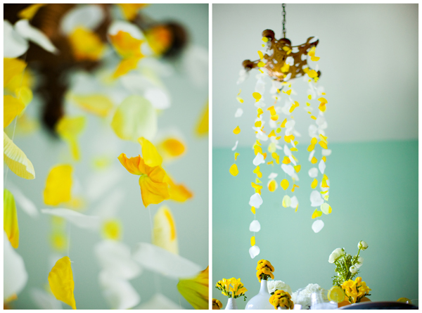 Yellow-chandelier