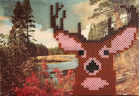 Perler-bead-deer