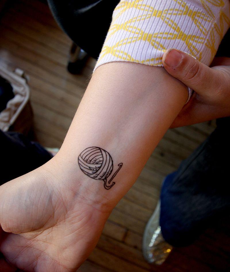 Yarn tattoo