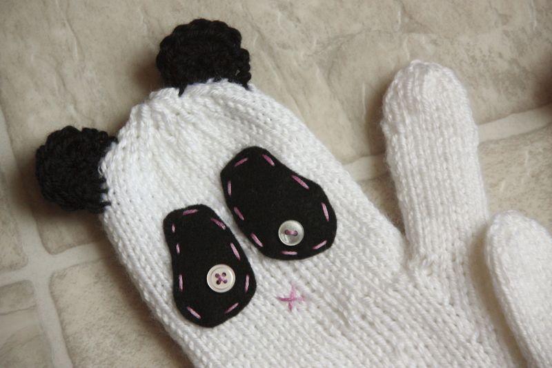 Panda-mitten-DIY
