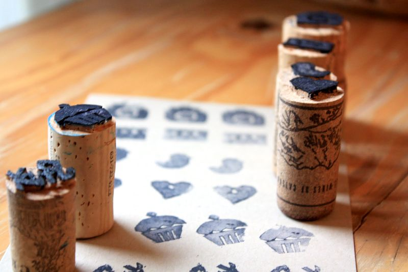 Cork stamps