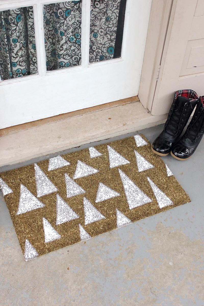 Holiday Door Mat D I Y A Beautiful Mess