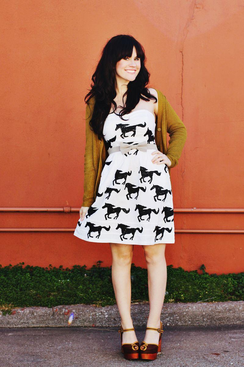 Pony stamp dress 3