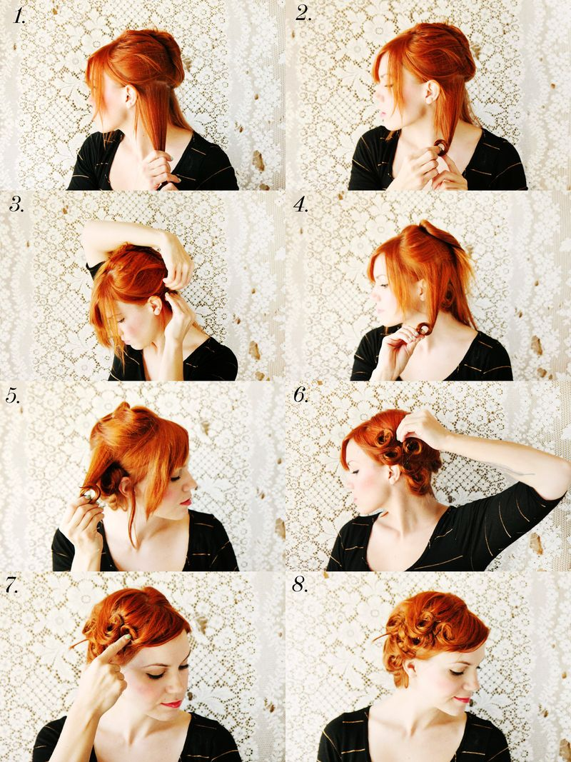 How To Style Pin Curls - A Beautiful Mess