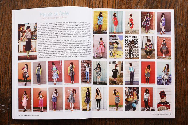 Zooey Magazine feature 1