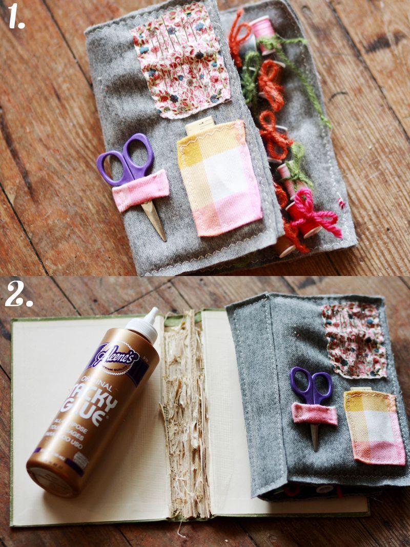 Sewing kit steps